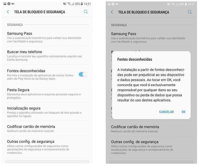 2 - Como Ativar Fontes Desconhecidas no Android
