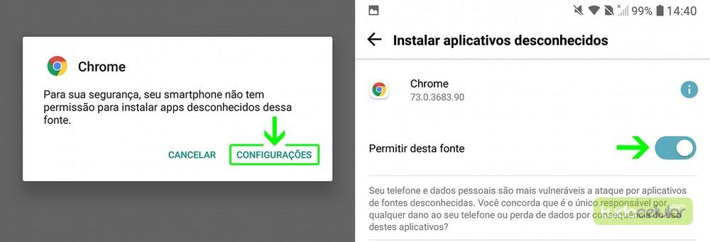 r - Como Ativar Fontes Desconhecidas no Android